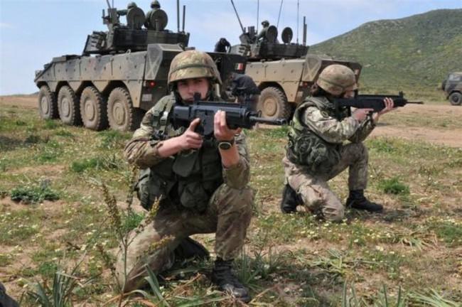 Freccia - Soldati schieramento