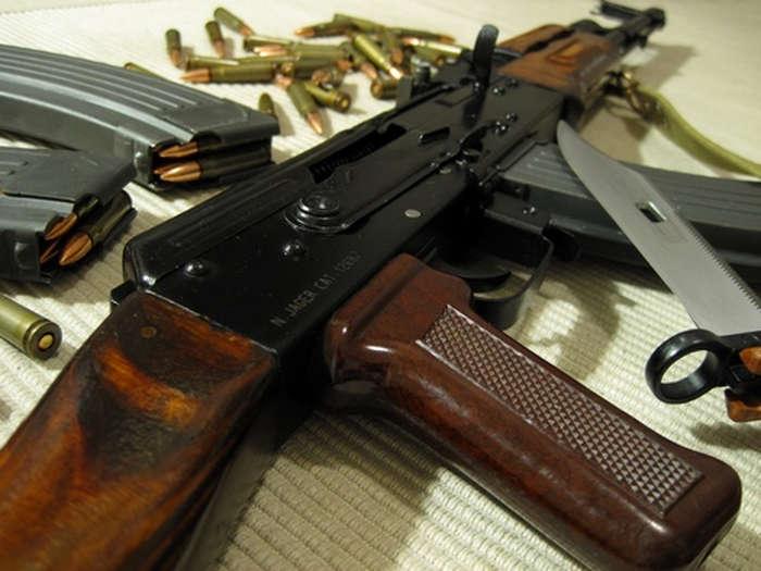 AK-47 con baionetta