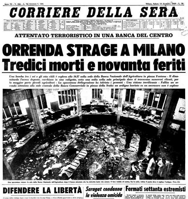 Terrorismo - Strage Piazza Fontana Milano
