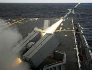 MK29 Sea Sparrow Missile