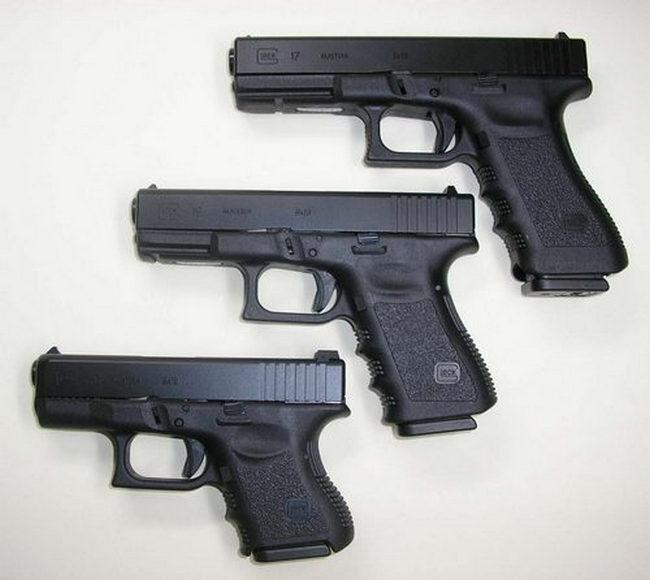Pistole Glock versioni 17, 19 e 17C